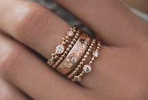 Rose Gold Rings / Rose gold and diamond rings!  jewelerstradeshop.com