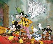 Floyd Gottfredson / Floyd Gottfredson oils, illustrations with Disney characters