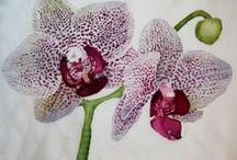 My work    Silk painting / Więcej zdjęć na flowersonsilk.blogspot.com