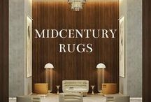 Midcentury Rugs / Named after great movie directors, each rug is handmade and unique. Adapting to every kind of double's agents interior needs, Essential Rugs are a true masterpiece.