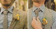 Grooms Party Inspiration / Grooms Party Inspiration from suites, button holes and gifts.