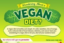 Diets: Vegan/Vegetarian / Vegan is eating ONLY fruits & vegetables. Vegetarian is eating no meat, other than seafood & eggs. / by Janette McGowen