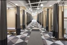 Changing rooms / Changing rooms can be just as design savvy as the rest of the store! Here's our favourites!