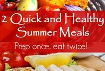 Healthy Summer Recipes / Healthy and delicious recipes that use the fresh, beautiful ingredients of summer. Plus family dinner ideas and a few summer treats!