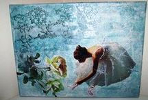 Painting / Painting with decoupage