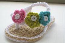 Crochet :  Baby Booties