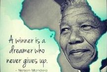 Nelson Mandela / Thank you Madiba ,you have given us a path to follow forever together