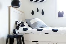 Ideas for Kids Bedrooms / Black and White