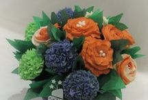 My Cupcake Flower Bouquets! / Have your flowers and eat them too! www.sugarhighshannon.com