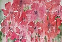 Flower paintings / Flowers......because they say more. 'watercolor paintings.in'