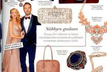 in Media & on Celebrities / Dresses, Jewelry, Shoes, Bags etc. from d'Oro Showroom seen in Magazines and on Famous Finns.
