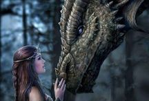 Fantasy World / Magic Creatures, Dragons, Elves, Goddesses, Warriors and much more about Fantasy World.