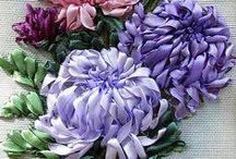 Fiori di tessuto...Fabric flowers