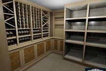 Vault Room - Wine Display / Wine Room - American Black Walnut With Full Burr Veneered Panels