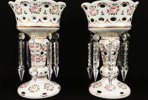 Victorian Mantle Lustres