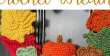 Crochet Wreaths, Flowers and Trees / Aaaaah the endless possibilities.....And completely care free....