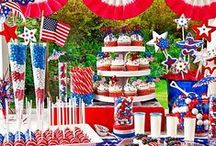 4TH OF JULY RECIPES / Festive food and drink recipes for celebrating the 4th of July holiday in grand American style! BBQ food, picnic food, potluck recipes, appetizers, desserts, special treats, drinks and more.