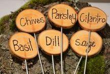 Garden Marker Craft / Easy, do it yourself, vegetable garden marker ideas.