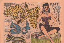 """Dress Jane (Arden), Katy (Keene) and other comic strip ladies... / ... and some gentlemen, ofcourse, because it should be cruel to say """"no"""" to a real one"""