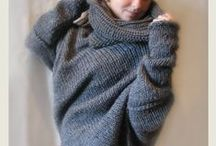 chunky knitted ponchos / This is my  hand made ponchos on Etsy
