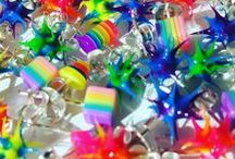 Rainbows / Rainbow colored body piercings, jewelry, fashion and pictures.