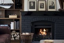 Home: Fireplaces & Mantles / by Jo Oakes