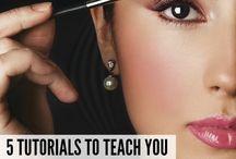 Eye makeup / Eye shadow makeup, about false lashes & eyebrow makeup