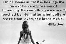 Music ♫ / Adds life to everything, your soul recognizes fragments from a song because it is you..... deep eh? hahaha Gotta ♥ this stuff!