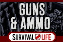 Guns and Ammo   Survival Guns, Gun Reviews and Cool Guns and Ammo Tips / Survival guns and ammo, best gun tips, gun reviews and survival tips. How to use a gun for protection, safety advice, and cool ways to trick out your gun. Ammo recommendations and reviews. / by Survival Life   Survival Prepping
