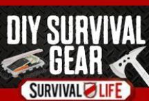 DIY Survival Gear / DIY Survival Gear, best homemade survival kit projects, cool paracord survival bracelet tutorials and step by step instructions for making paracord projects, your own survival tools, weapons, emergency food and more. Weekend projects and How To's for prepping, homesteading and self reliance. Follow Survival Life on Pinterest, Facebook and at survivallife.com for the best DIY survival gear tutorials and tips. / by Survival Life | Prepping - Outdoors Ideas