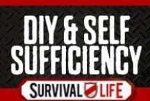 DIY & Self Sufficiency / DIY Survival Gear and homemade DIY project tutorials for homemade gear, tools, products, furniture, survival tools and DIY natural health. Step by step tutorials with instructions for making your own things rather than buying. Prepping and homesteading ideas and tips.  For the best DIY projects for prepping, survival and self sufficiency, follow Survival Life on Pinterest, Facebook and on our blog at survivallife.com