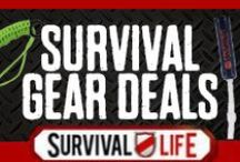 Survival Gear Deals / Special discounts on the coolest survival gear we find. Deals brought to you exclusively by Survival Life. / by Survival Life | Prepping - Outdoors Ideas