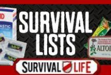 Survival Lists / by Survival Life | Prepping - Outdoors Ideas