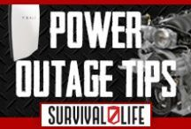 Power Outage Tips / Learn how to prepare in power outage. We all have here the best alternative kit, survival skills, preparedness ideas when the SHTF by Survivallife.com