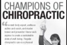 """Print Advertisements / The F4CP's growing advertisement campaign is featured in prominent national publications, including The Wall Street Journal.   The """"Champions of Chiropractic"""" ad series features high-profile celebrities and their chiropractors speaking out positively on behalf of chiropractic care."""