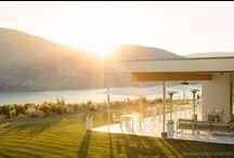 [ Tasting Room ] / an architectural masterpiece set atop a picturesque bluff overlooking the estate vineyards & Skaha Lake. Modern. Winery. Weddings. Events.