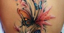 Female body art / Delicate and colourful, detailed and bold, body art and tattoos to decorate the female body.