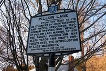 Lace Monuments / Sites describing public art honoring the lacemaking tradition.