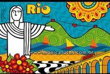 Ilustrações Cidades do Brasil by Mônica Fuchshuber / Ilustrações de minha autoria desenvolvidas para cangas, pôsters e outros produtos. || Deseja encomendar uma arte ou comprar uma reprodução? Entre em contato: contato@monicafuchs.com.br  || Visite minha loja: https://www.colab55.com/@monicafuchshuber