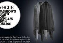 VOGUE Fashion's Night Out 2014 | Online / Made in Germany: Nur zur FNO gibt es bei V. Fraas eine limitierte Cashmere-Kollektion an XXL-Schals und Capes zum Vorzugspreis zu kaufen. Zusätzlich erhalten Sie bei jedem Einkauf ein Cashmere-Pflegeset als Geschenk und freien Versand ab einem Einkaufswert von 100 Euro auf vfraas.com.