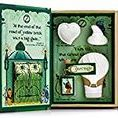 The Wonderful Wizard of OZ / The Wizard of OZ Emerald City Tea-Party Kit. Throw the perfect children's tea party while bringing their favorite classics to life with collectable Storybook Tea Kits. The cookies in this tea kit are based on each characters wishes -- a Heart, Thinking Cap for Brains, and the Wizard's Balloon to help Dorothy return home, which leaves without her. This tea-party experience will motivate and inspire children to put a pen in their hand and use their imagination to write their own tea-party.