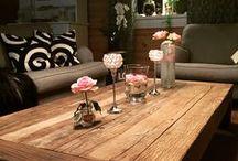 Tømmerhus / Vi bor i et tømmerhus, flott hus et godt sted å leve for både kona og meg