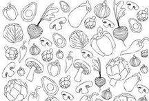 Ovoce zelenina | šablony