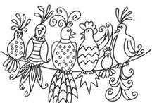 Ptáci | šablony