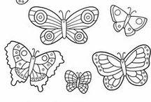 Motýli | šablony