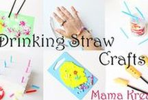 ♥ Basteln und Malen mit Strohhalmen ♥ / Ideen mit Strohhalmen | Basteln, Malen und Spielen mit Trinkröhrchen für Kinder| Drinking Straw Crafts, Activities and Games for Kids