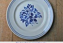 Hélène vaisselle bleue
