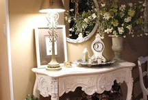 tabletops and mantles and other vinquettes / pretty tabletop decor, mantle display and other great vinquettes for anywhere / by Rhonda Horton Foster Jarratt