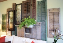 shutters, windows ,doors and other salvage peices / ideas for diy / by Rhonda Horton Foster Jarratt