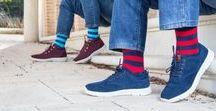 Men socks - Lemonade Attack / Calcetines para hombre. Trendy colour socks combinations.